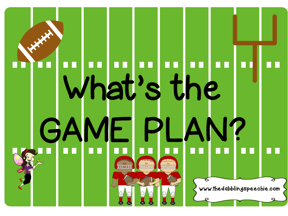 Game Plan Feb Thedabblingspeechie - Game plan template
