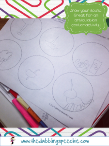 Articulation Activity-Draw a Sound FREE Worksheet!