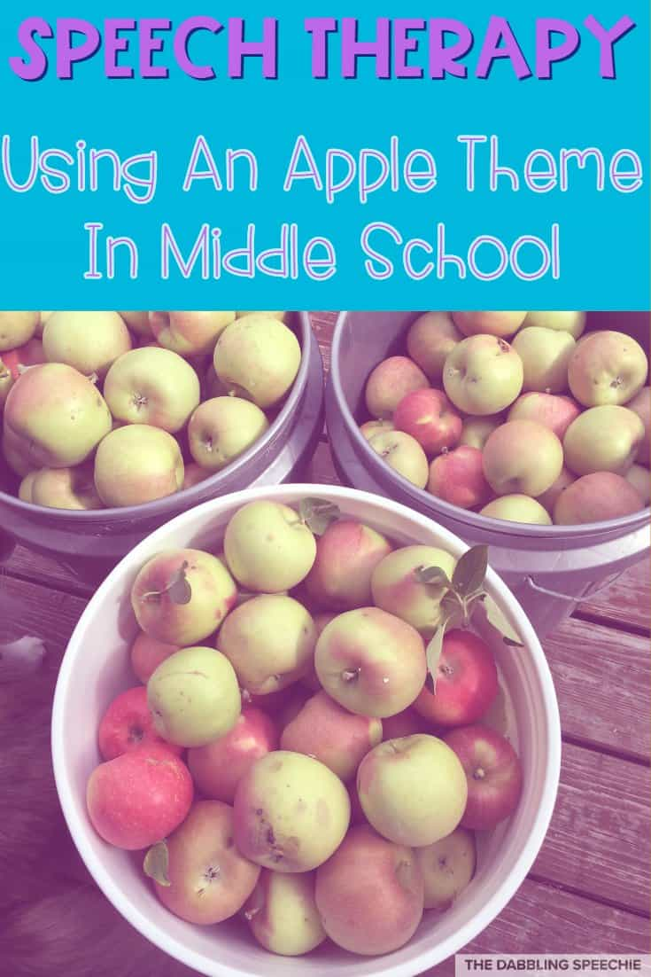 Activities Using An Apple Theme For Your Middle School Caseload