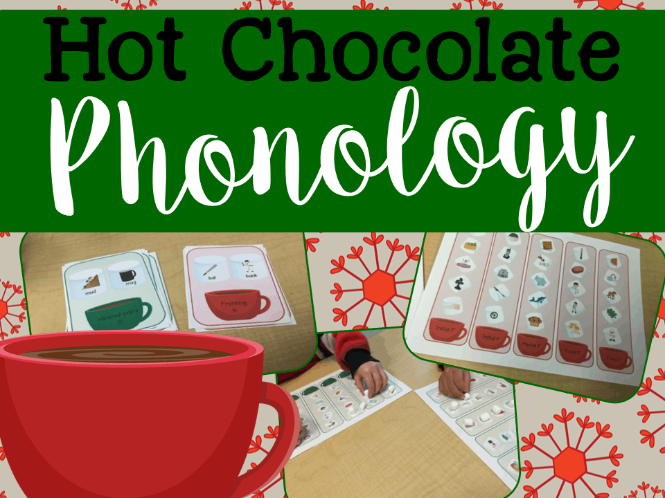 Phonology Activities for Speech Therapy: Hot Chocolate Phonology Game!