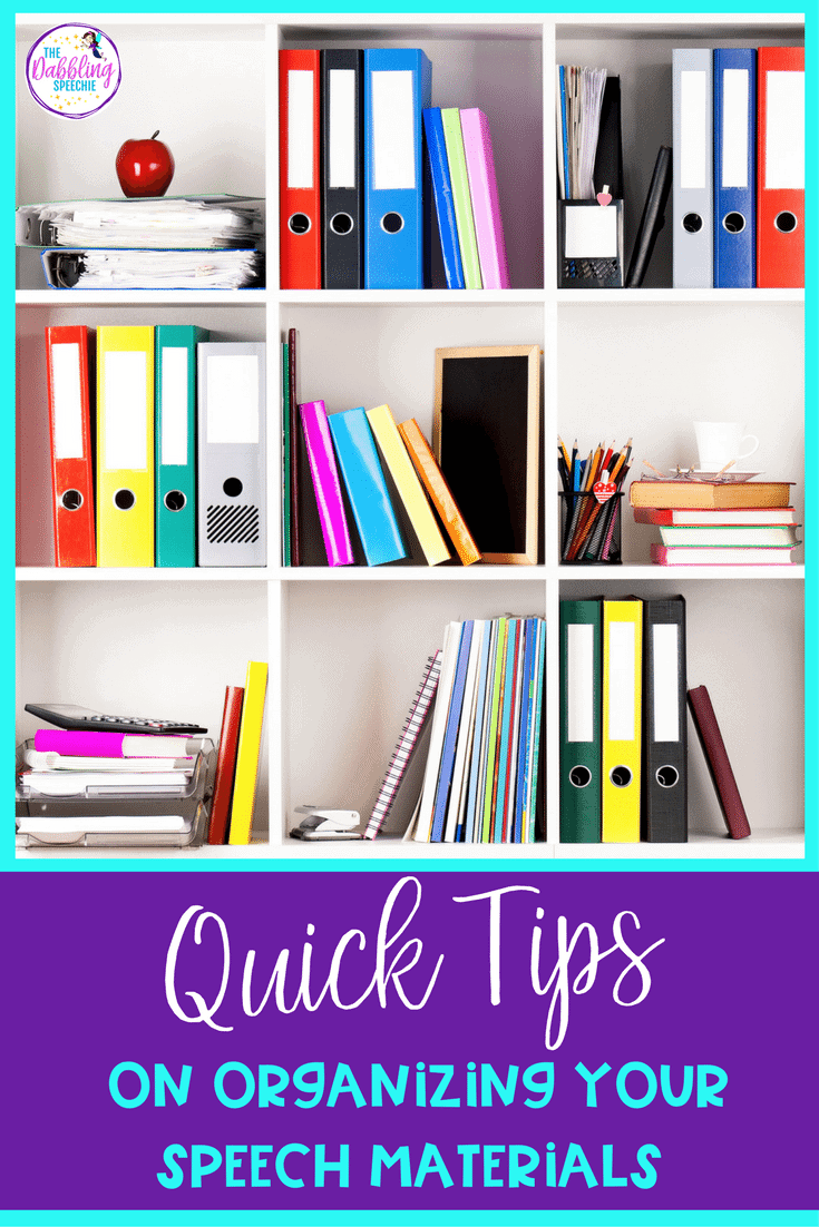 Quick Tips On Organizing Speech Materials