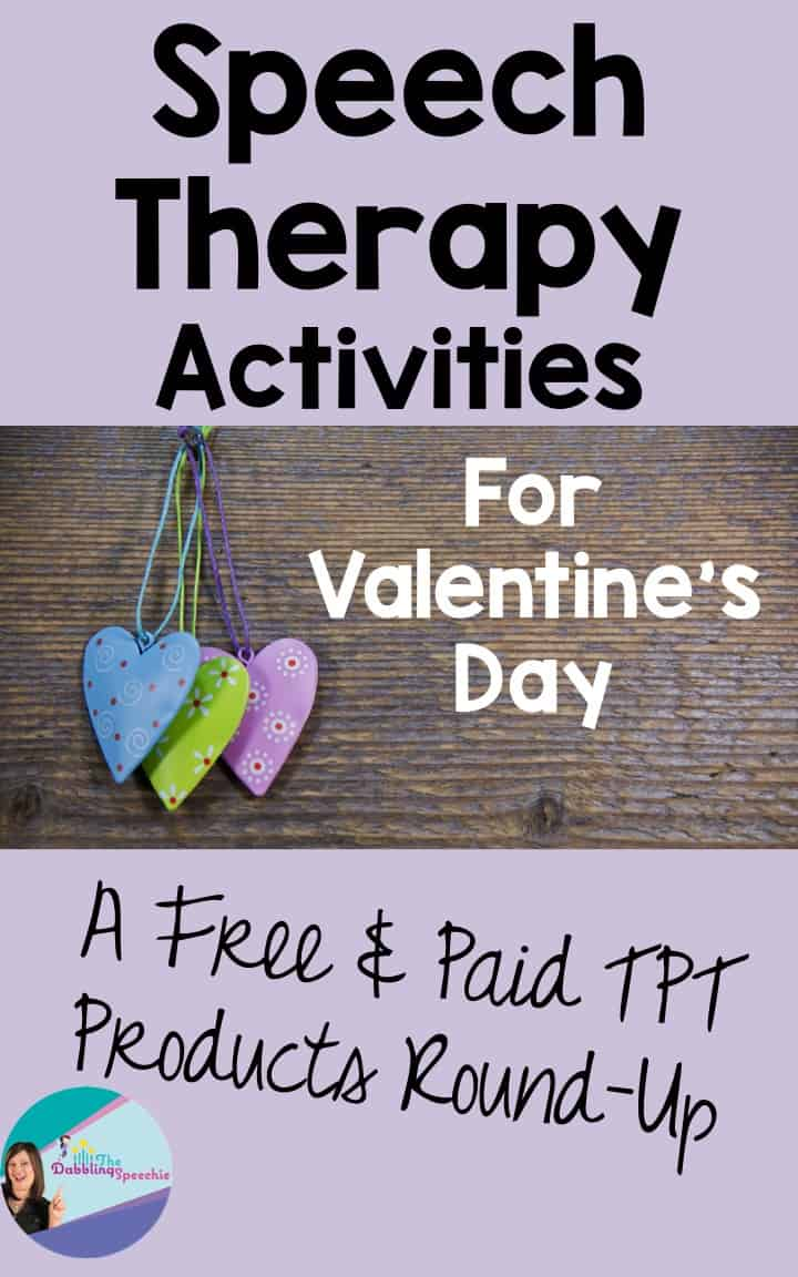 Valentine's Day Speech Therapy Activities – A TPT FREE & Paid Products Roundup