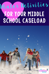 winter therapy ideas for middle school that are fun with just using some youtube videos!