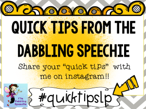 A Quick Tip From The Dabbling Speechie:  An Easy Way To Take Data With Your Language Groups
