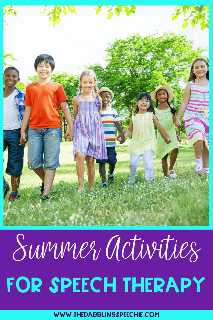 Summer Speech Therapy Activities: TPT Round UP