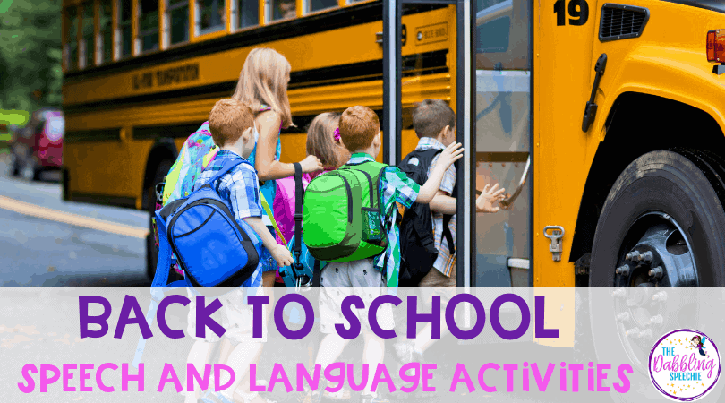 Back To School Speech and Language Activities: FREE & Paid TPT Round Up!!