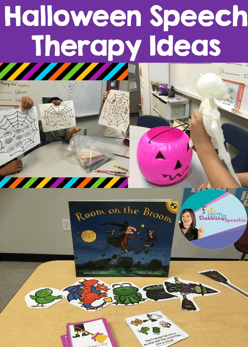 Halloween Speech Therapy Ideas: My Spooky Week of Fun