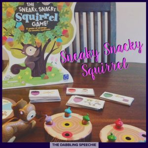 squirrel speech therapy ideas using sneaky snacky squirrel