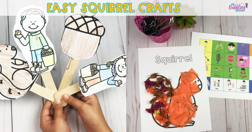squirrel speech therapy activities using crafts to target speech and language skills