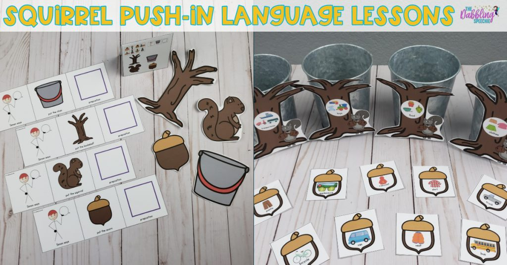 squirrel speech therapy ideas for whole class push-in lessons for the busy SLP
