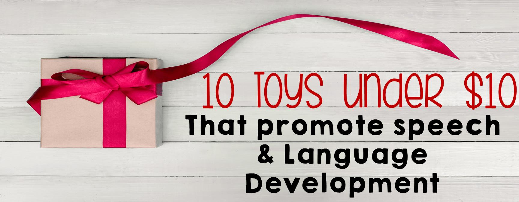 Toys For Speech Development : Toys that promote speech language development