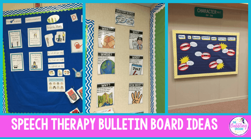 speech therapy bulletin boards for school based SLPs