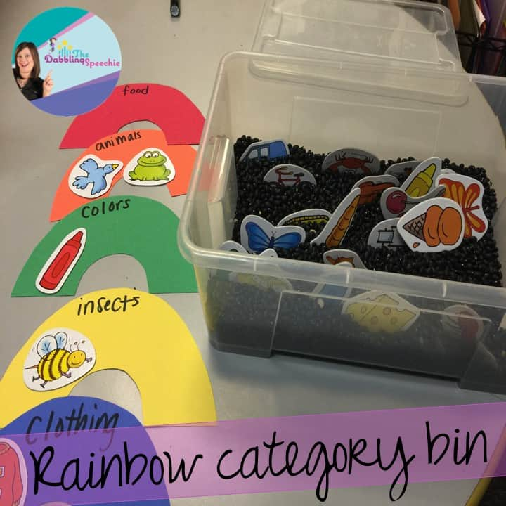 March Sensory Bins for Speech Therapy