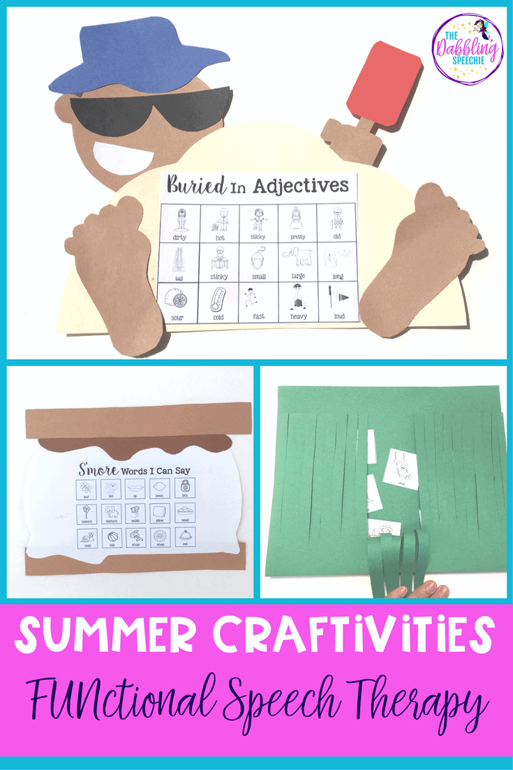 Summer Crafts For Speech Therapy