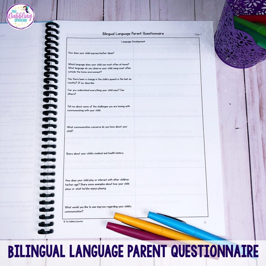 speech assessment tools to help you assess bilingual students using ethnographic interview questions and knowing the articulation and language differences of the student's primary language.