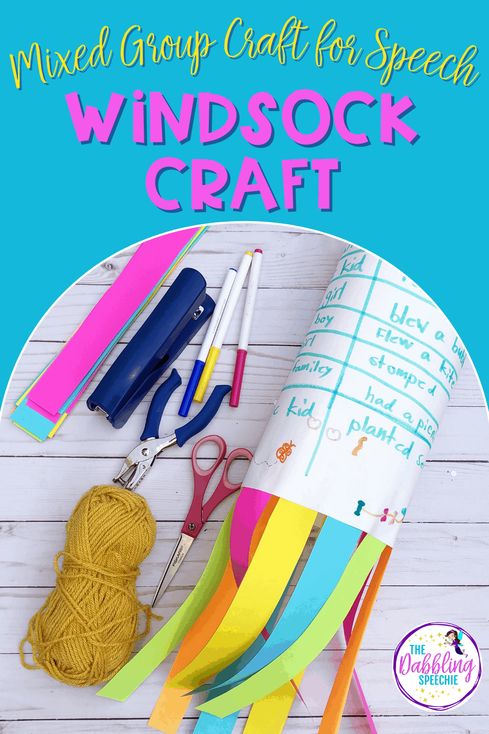 Windsock Craft For Kids In Speech Therapy