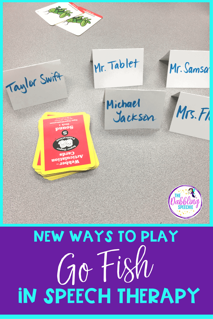 Go Fish Speech Therapy- New ways to make this game come to life for your students in speech therapy.