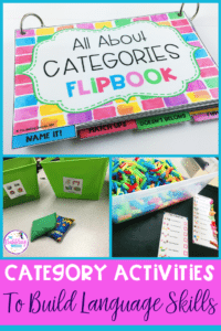 category activities for speech therapy to build language skills.