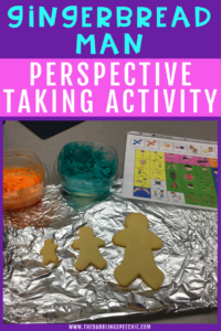 gingerbread man perspective taking activity for your next social skills lesson. A fun and festive holiday social skills lesson.