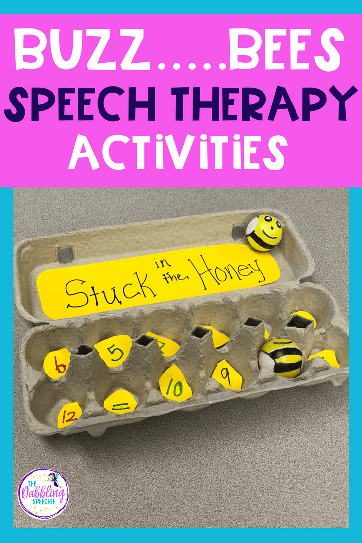 Bee Activities For Elementary Speech Therapy