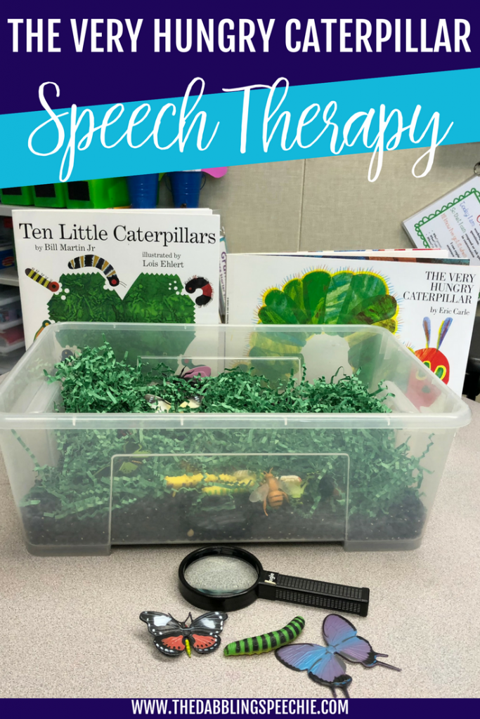 The Very Hungry Caterpillar activities and resources for speech therapy #slpeeps
