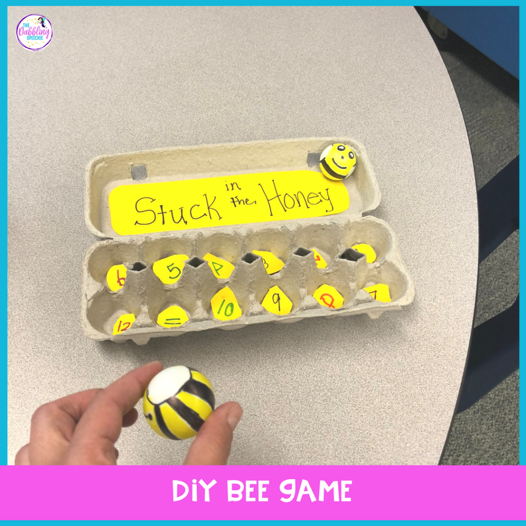 bee activities for elementary speech therapy - A DIY bee game to reinforce any skill in speech therapy