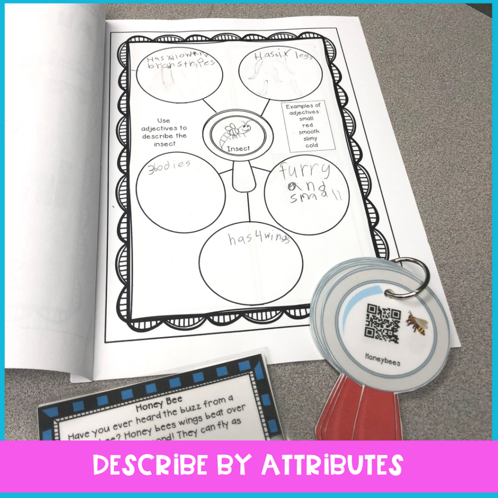bee activities for elementary speech therapy to work on vocabulary, compare and contrast with non-fiction interests in speech therapy