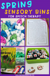 Spring Sensory Bins For Speech Therapy