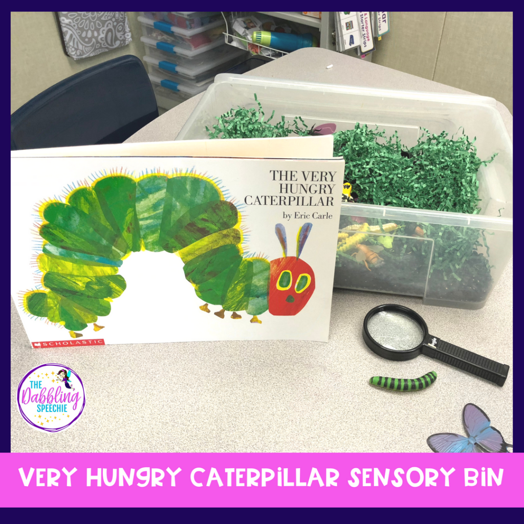 Find resources, therapy ideas and activities to work on speech and language goals using The Very Hungry Caterpillar in Speech Therapy.