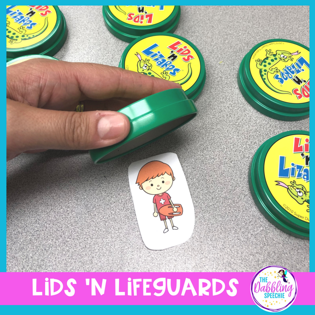 Lids 'N Lizards in speech therapy is a language based game for SLPs. Learn tips for how to adapt this game for speech therapy.
