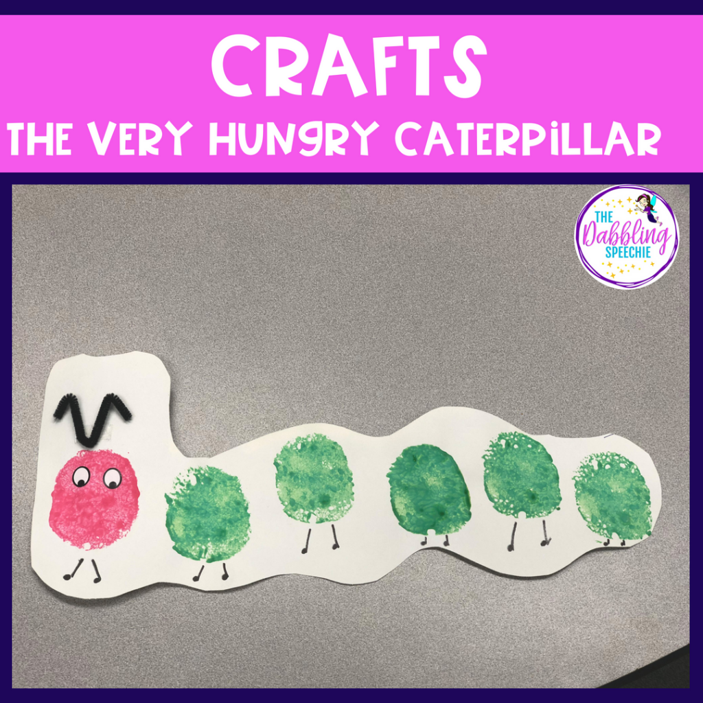 Crafts for The Very Hungry Caterpillar. Find resources, therapy ideas and activities to work on speech and language goals using The Very Hungry Caterpillar in Speech Therapy.