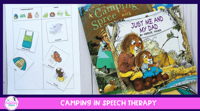 Themed Therapy – Camping Speech Therapy Activities