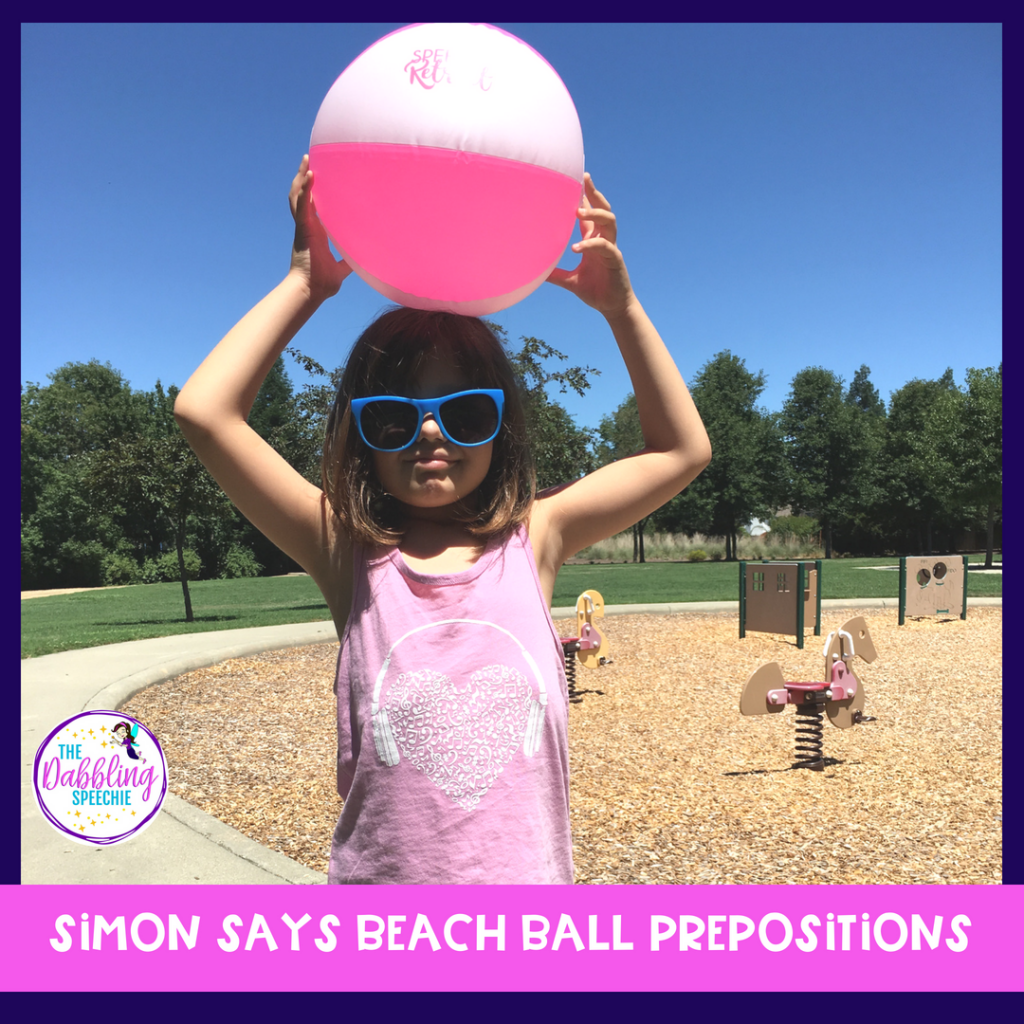 How to use beach balls in speech therapy to make lessons engaging during the summer months! #slpeeps #schoolslp #speechtherapy #speechies #slp2b