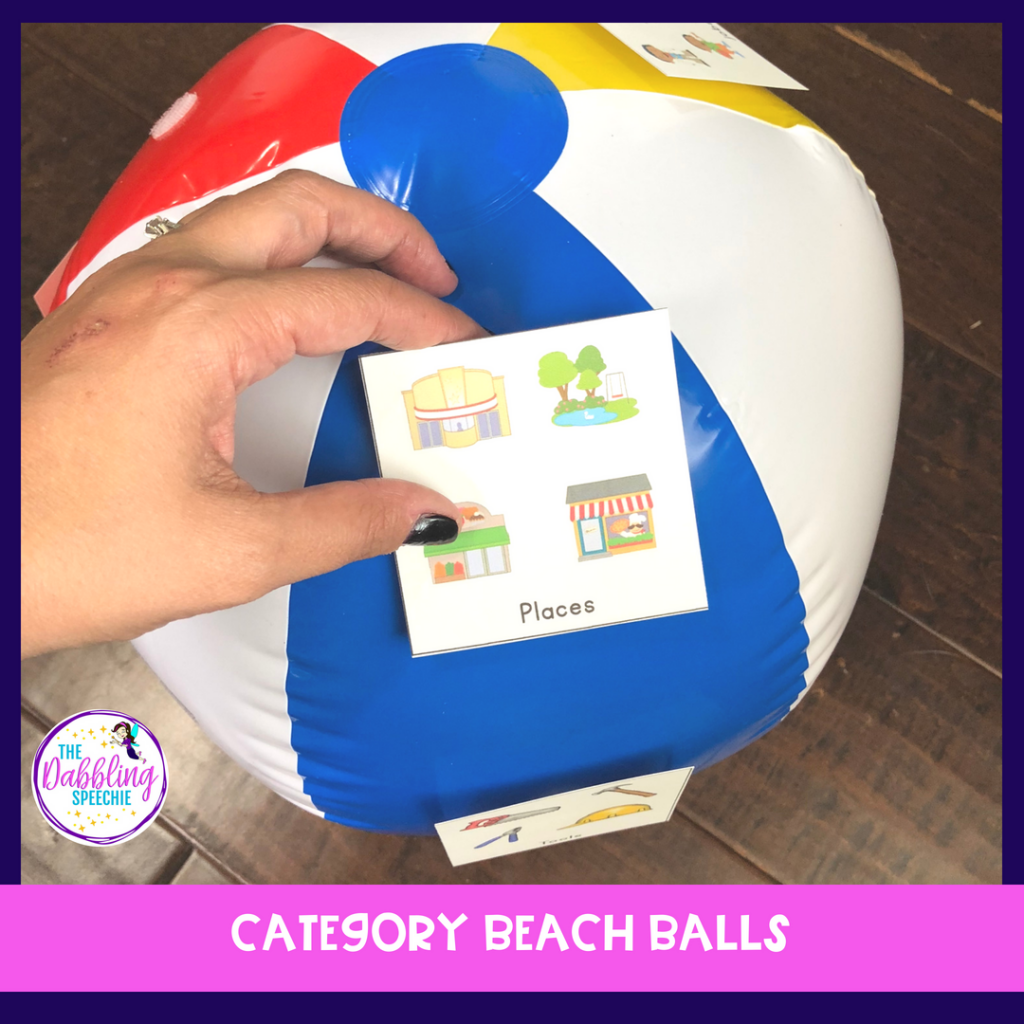 speech therapy beach balls
