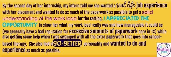 SLP graduate grad student internship