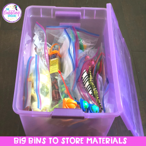 Organize your speech materials so you know where your everything is in your speech room. Easy solutions for keeping your materials organized, so you can find them when you need them! #slpeeps #schoolslp #slp2b #organizedslp #speechtherapy