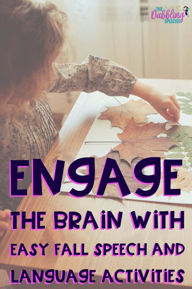 Engage the Brain with Fall Speech And Language Activities