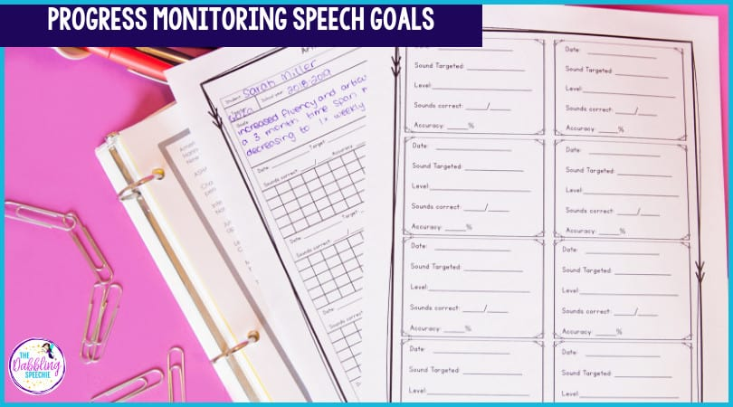 progress monitor speech goals efficiently