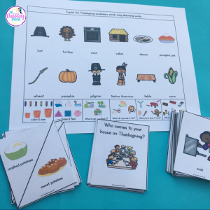 Thanksgiving push-in language activities plans to help ya get through the week!