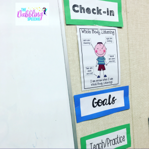 create behavior routines in speech to help student engagement and participation. #slpeeps #schoolslp #dabblingslp #speechtherapy #slps #slps2b