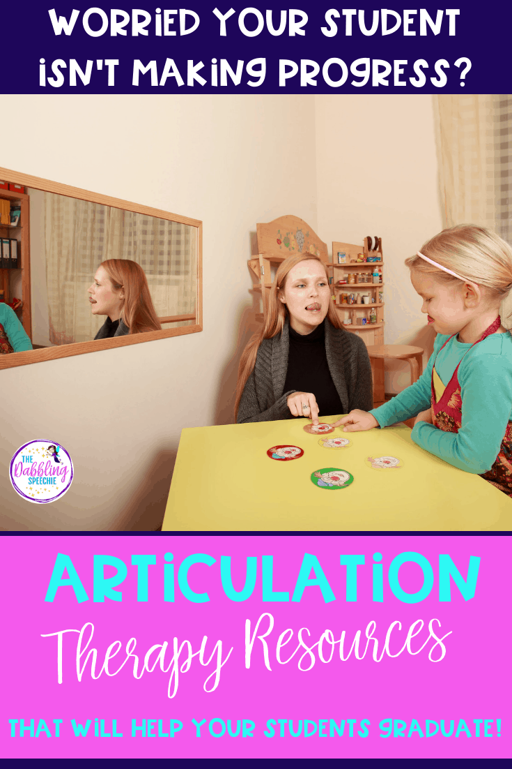 articulation therapy ideas for the busy SLP. #dabblingslp #slpeeps #schoolslp #speechtherapy #speechpathology #articulationtherapy #speechies #slps #speechdisorders #schoolslp #preschoolslp