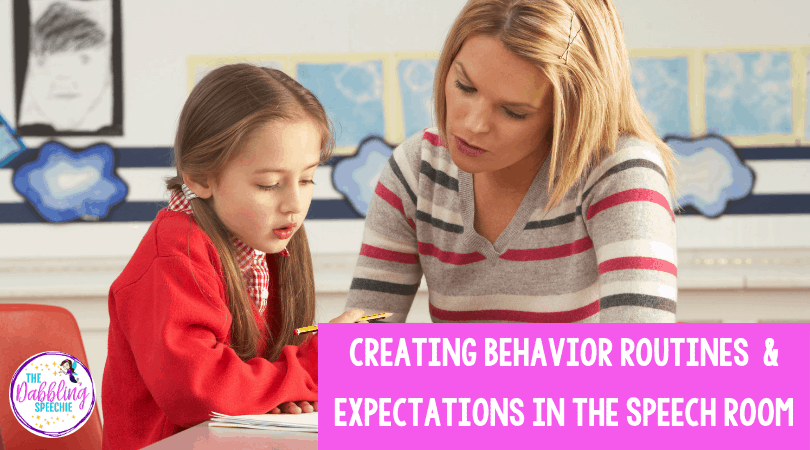behavior routines in speech to create routines and expectations