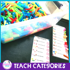 dinky doodads in speech therapy to teach categories