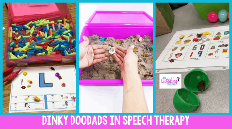 dinky doodads in speech therapy to work on a lot of different skills with students!