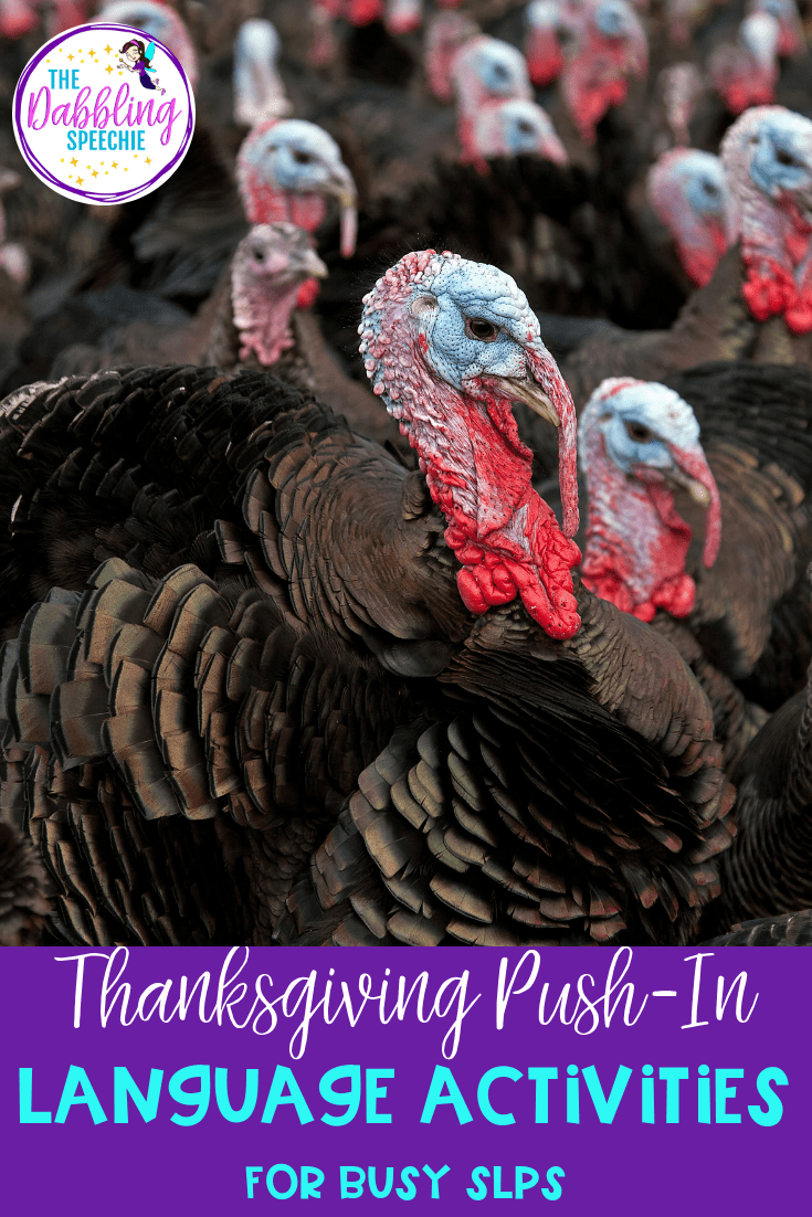 Thanksgiving PUSH-IN Language Activities for K-2