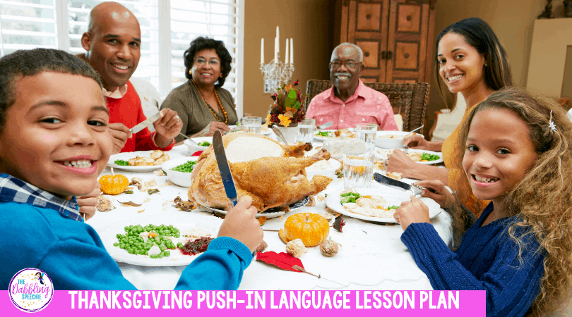 Thanksgiving push in language activities for busy SLPs