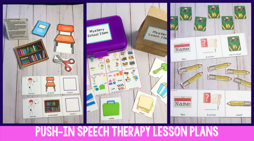 How To Set Up Your Push-In Speech Therapy - thedabblingspeechie