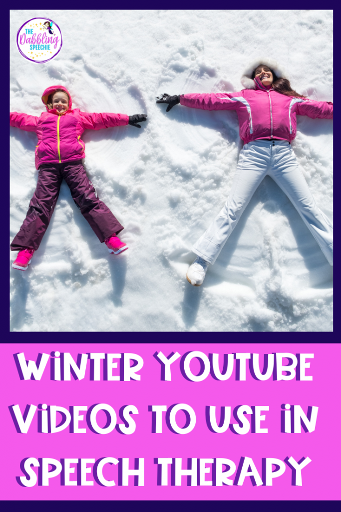 Winter YouTube videos to use in speech therapy to cover goals in mixed groups. Low prep therapy that is still effective for student's speech and language growth. #slpeeps #schoolslp #speechtherapy #dabblingslp #slps2b #winterspeechtherapy #lowprepideas #mixedgrouptherapy #slps #schoolslp #middleschoolslp