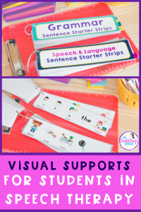 Have visuals supports for students that will help them process information and make better connections with their speech goals. When we use visual supports in speech therapy, it helps our students learn new skills. #slpeeps #schoolslp #speechies #slp #cfyslp #dabblingslp #cfyslp #pediatricslp #pedslp #visualsupports #speechtherapy #speechpathology
