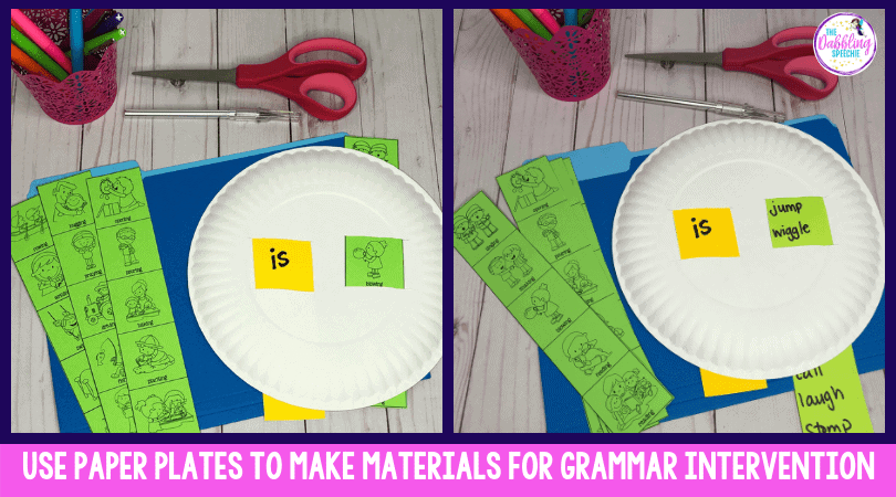 Use Paper Plates to Target Grammar – EBP aligned!